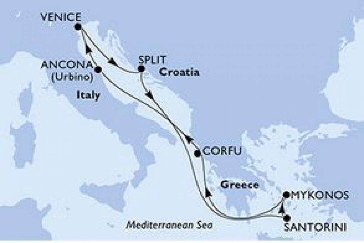 KRIŽARJENJE - VZHODNO SREDOZEMLJE - ITALIJA, GRČIJA, HRVAŠKA